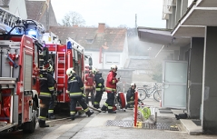 """Brand im """"Maria-Theresia-Hochhaus"""" in Wels"""