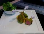 Lammkrone mit Salat