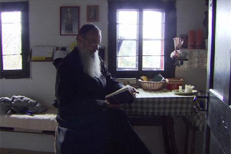 Bruder Raimund von der Thannen in der Einsiedelei am Palfen