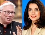Erzbischof Franz Lackner und ORF-Rom-Korrspondentin Mathilde Schwabeneder
