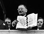 Unterzeichnung des Staatsvertrags im Schloss Belvedere