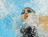 Fabienne Nadarajah 2009 bei der Schwimm EM in Istanbul