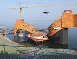 In Bau befindliche Chinesische Mauer auf der Bregenzer Seebühne