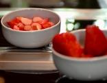 Rhabarber und Erdbeeren