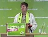 Astrid Rössler bei der Landesversammlung der Salzburger Grünen