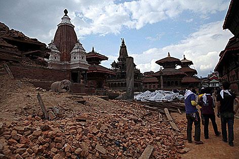 Patan Nepal Erdbeben Katastrophe Tempelstadt