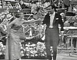 Willi Fantel mit Partnerin beim Song Contest 1958
