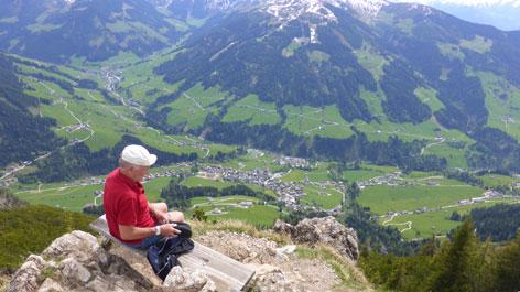 Wanderung Gratlspitz Gipfelrast