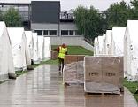 Zelte für Asylwerber