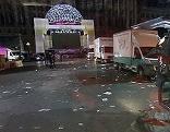 Leerer Rathausplatz nach Ende des Public Viewing Village beim Song Contest