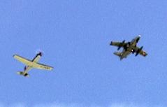 Saab 105 des Bundesheeres bei Abfangübung