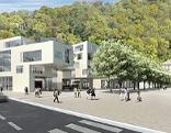 Visualisierung des Bauprojekts von Cassco auf dem Rehrlplatz neben dem Unfallkrankenhaus in der Stadt Salzburg