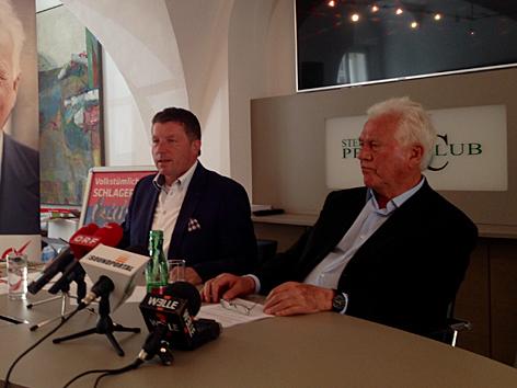 Josef Kaltenegger und Frank Stronach