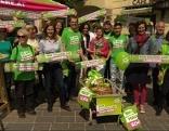 Die Grünen beim Wahlkampffinish in der Eisenstädter Fußgängerzone