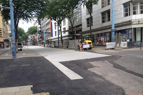 Bauarbeiten auf Mariahilfer Straße