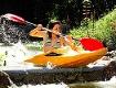 Paddlerin im Kanu