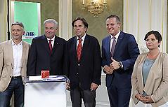 Die fünf Spitzenkandidaten der Landtagsparteien