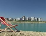 Liegestuhl in der Seestadt Aspern
