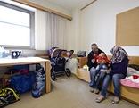 Zimmer mit Asylwerbern