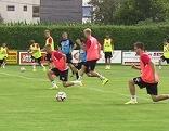 Fußballteam beim Training