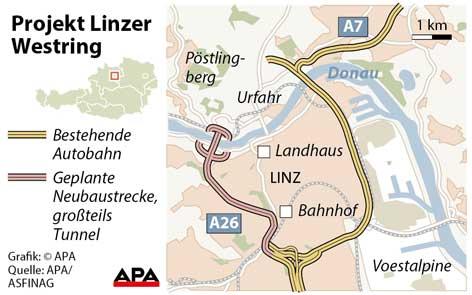 Karte des Westrings (A26)