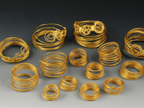 Der im Jahr 2011 am Hallstättersee gefundene Goldschatz