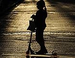 Silhouette eines Mädchens