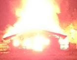 Almhütte niedergebrannt