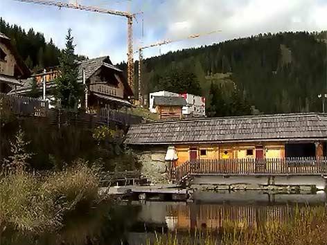 Almdorf Seinerzeit Baustelle