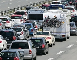 Verkehrsstau auf einer Autobahn