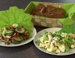 Damensalat und Herrensalat mit Brot