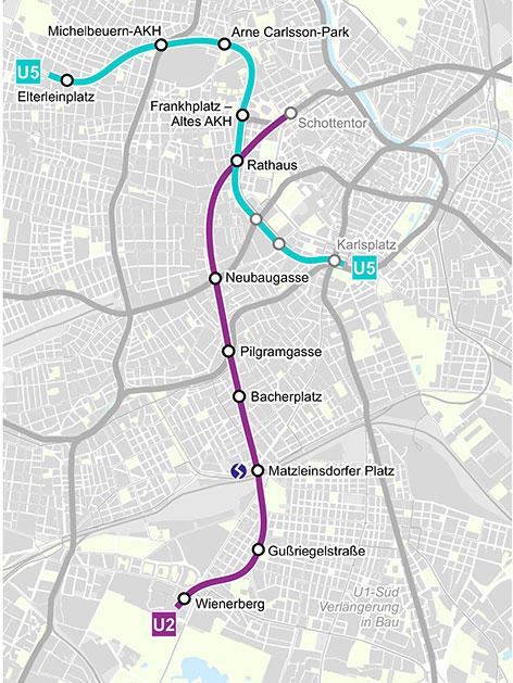Routen U2 und U5