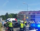 Unfall beim Kreisverkehr Jois