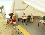 Zelte für Asylwerber in Eisentstadt