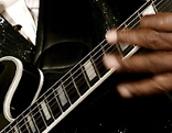 Blues-Legende BB King an der Gitarre