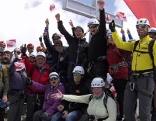 Die Radio Salzburg Hörerinnen und Hörer auf dem Gipfel des Kitzsteinhorn