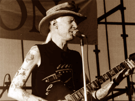 Johnny Winter im Jahr 1990