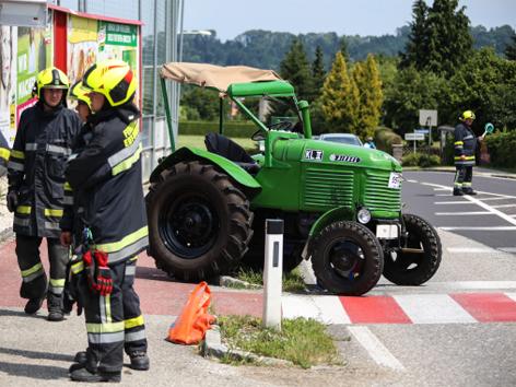 Unfall mit Oldtikertraktor