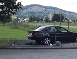 Unfall Götzis Parkbank