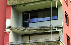 Abgerissener Balkon