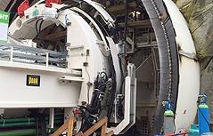 Koralm Megabohrer letzte Bauphase Nordröhre
