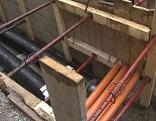 Baustellen Kanal Kanäle Rohre