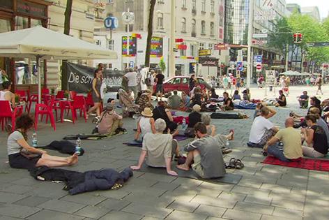 Asylprotest auf der Mariahilfer Straße