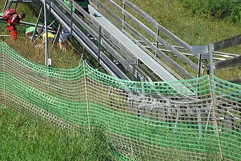 Unfallstelle bei der Sommerrodelbahn in Kaprun