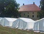 Aufbau Zeltstadt Althofen