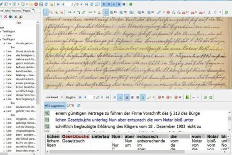 Mit der Software Transkribus können historische Handschriften automatisch entschlüsselt werden