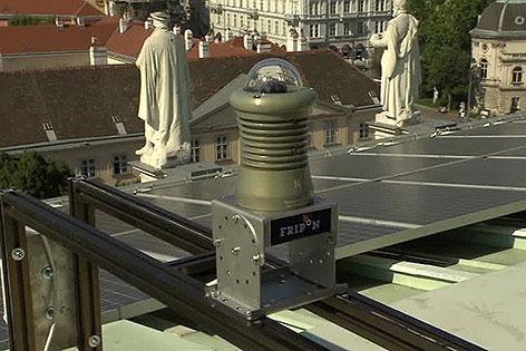 Meteor-Kamera auf dem Dach des Naturhistorischen Museums