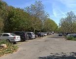 Parkplatz auf der Donauinsel in Wien-Floridsdorf