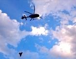 Rettung mit Hubschrauber