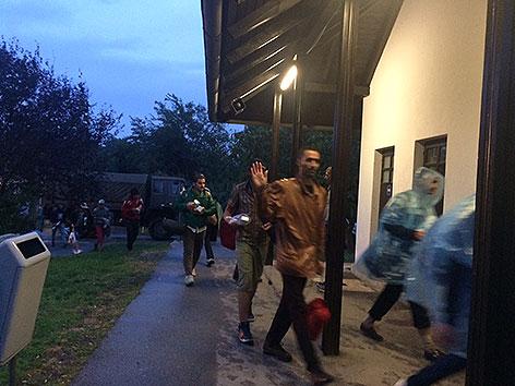 Flüchtlinge in Nickelsdorf